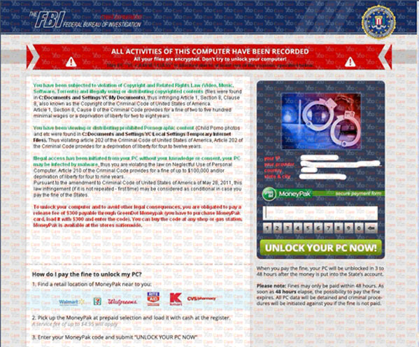 New-Version-of-FBI-MonePak-Virus-(FBI-Virus-Scam)