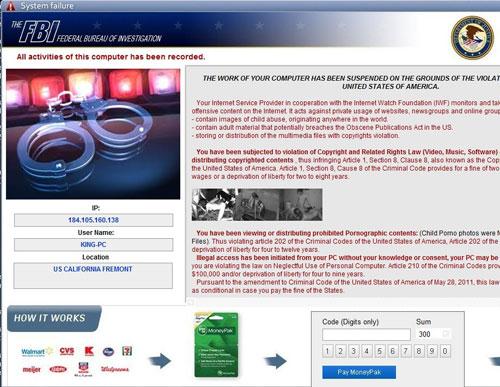 Fbi Moneypak Virus Blocked Pc Or Android Phone Asking To
