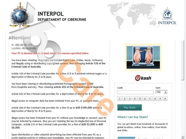 Interpol-Department-of-Cybercrime-Virus