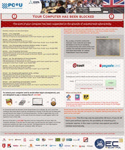 PCeU-Virus-Ukash-Scam