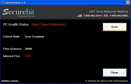 Securebit Technologies Free Antivirus 3.3