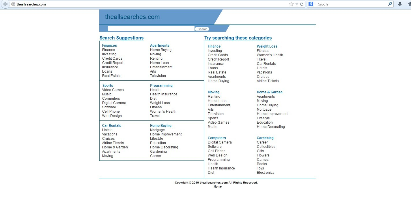 Theallsearches.com Hijacker