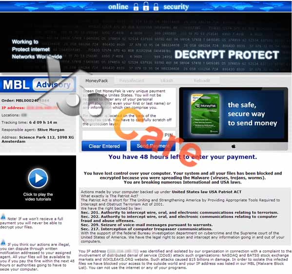 Decrypt Protect Virus MBLBlock.In ransomware