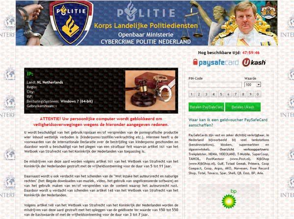 Cybercrime Politie Nederland Virus