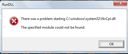 NVCPL.DLL Error - How to Fix?