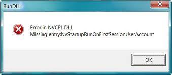 NVCPL.DLL Error3