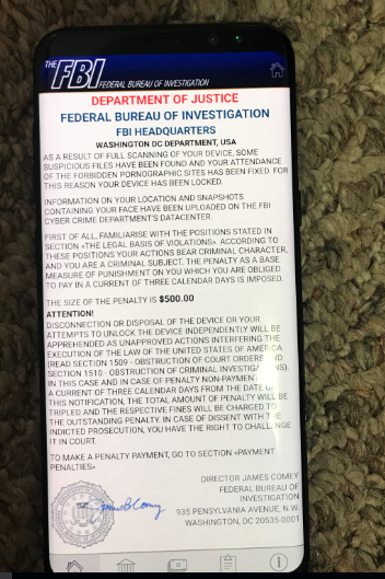 FBI Scam Locked Up My Android ZTE Phone - What to Do? - YooCare How