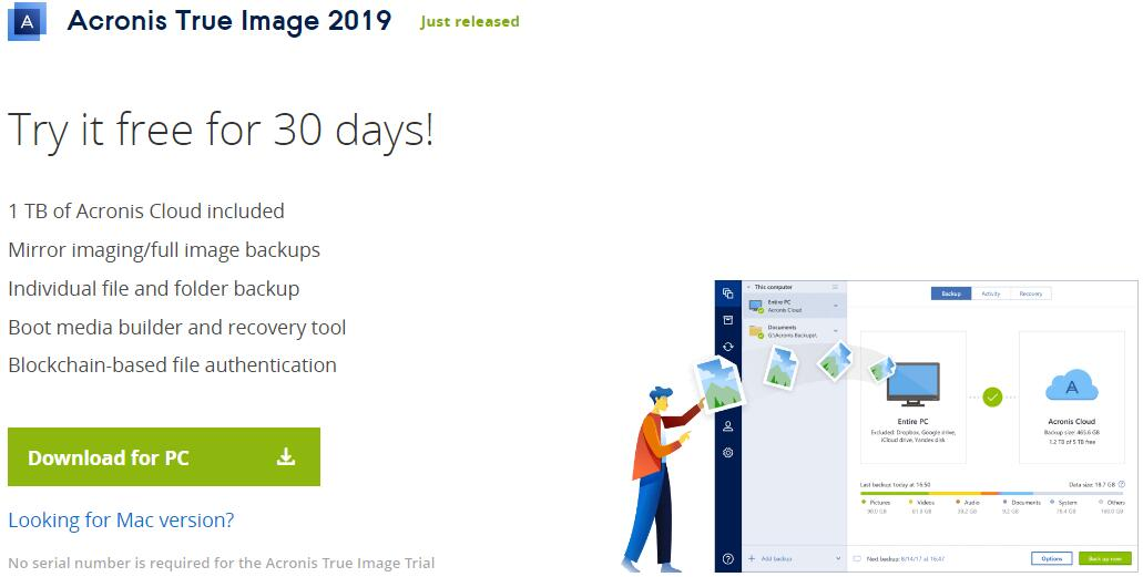 Acronis True Image 30-Day Free Trial 2019 : Never Lose Another File